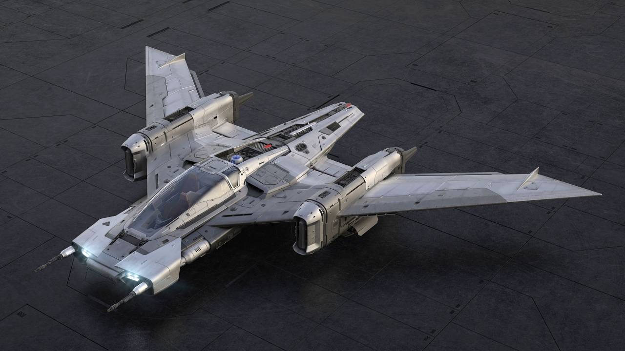 Porsche Tri-Wing S-91x Pegasus is a Star Wars ship you won't see in the film