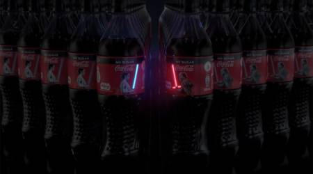 Coca-Cola's latest limited edition Star Wars bottle has OLED lightsabers