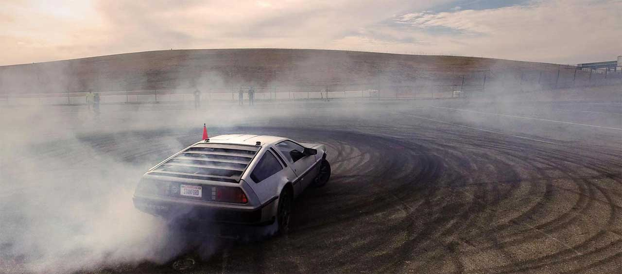 If you're gonna build an autonomous drifting car, you might as well do it in style