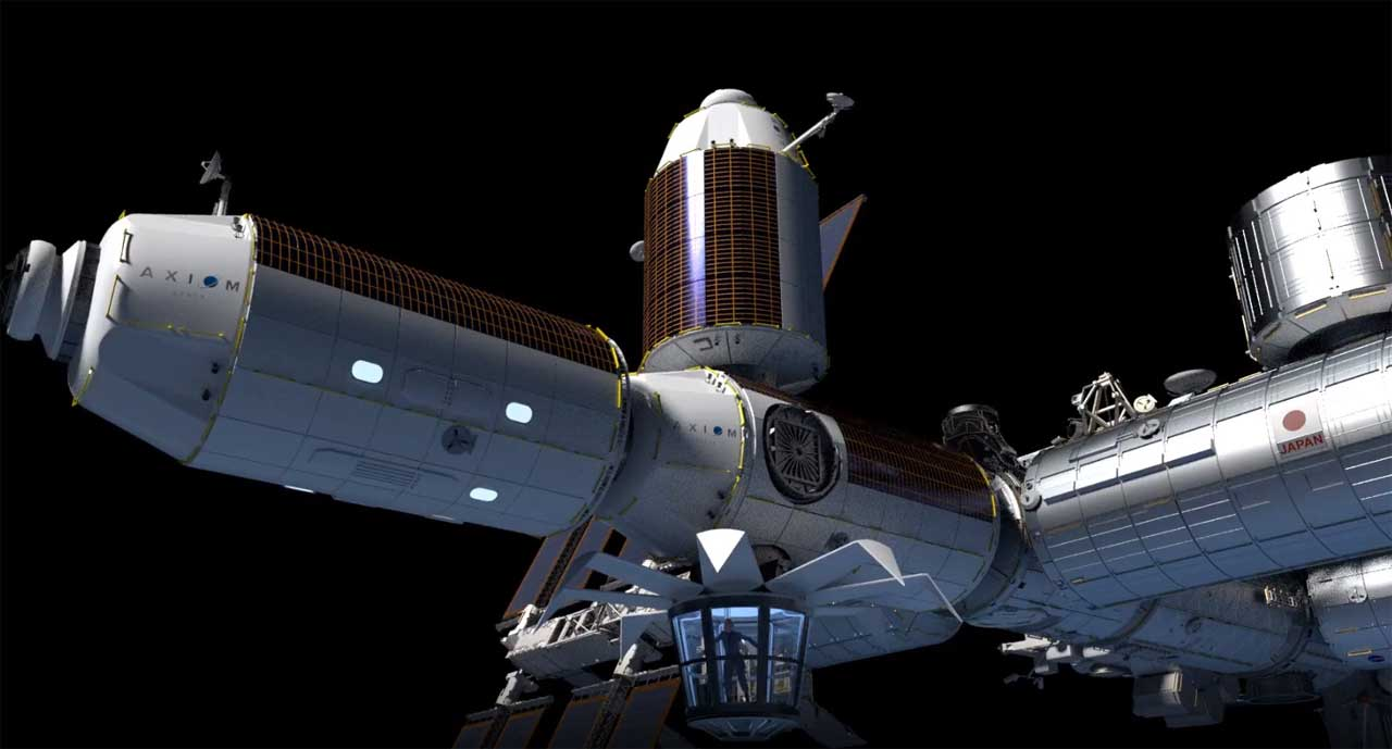 NASA chose Axiom space to build and launch three ISS modules
