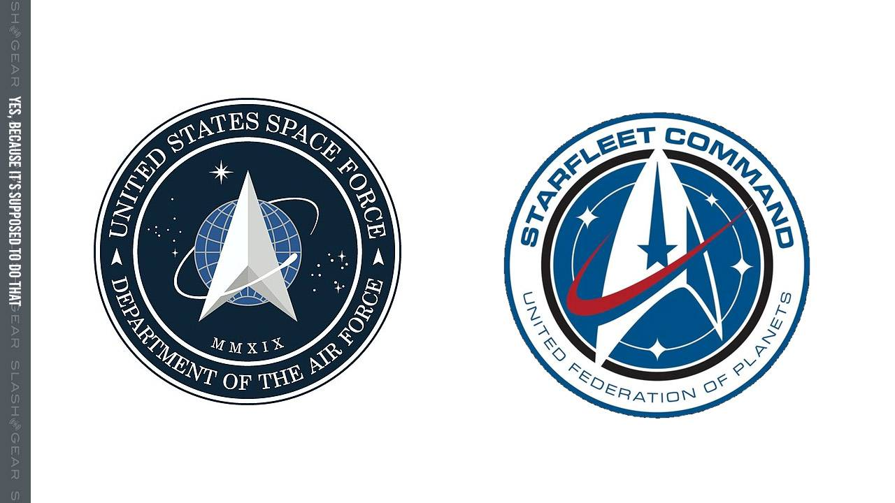 Why the Space Force logo looks like Star Trek, and Star Trek looks like NASA