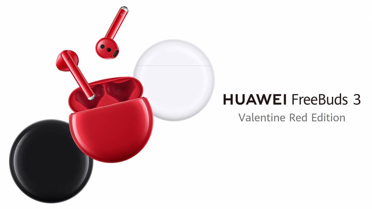 Huawei FreeBuds 3 go red for Valentine's Day