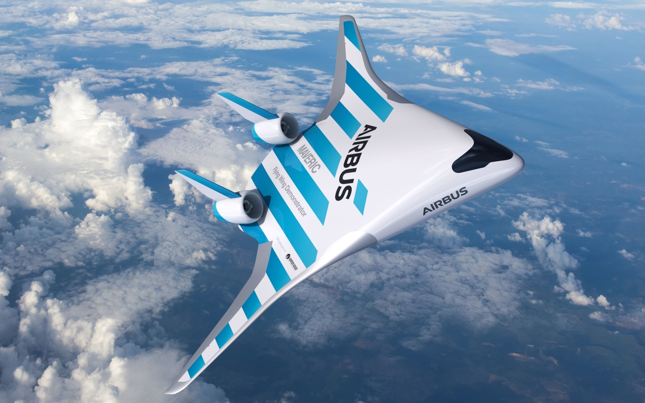 Airbus MAVERIC blended wing body plane promises better efficiency