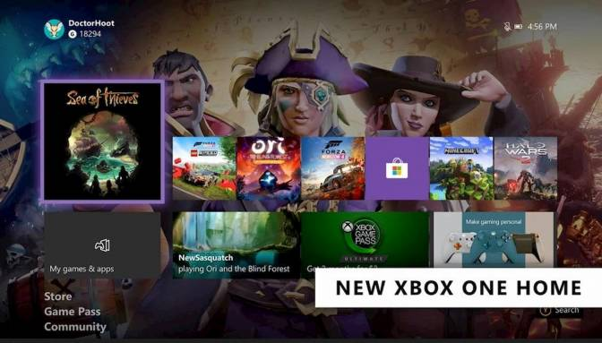 Xbox One February 2020 update rolls out a new home screen