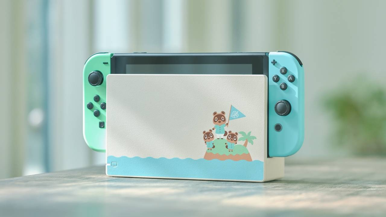 Nintendo shows off Animal Crossing Switch console