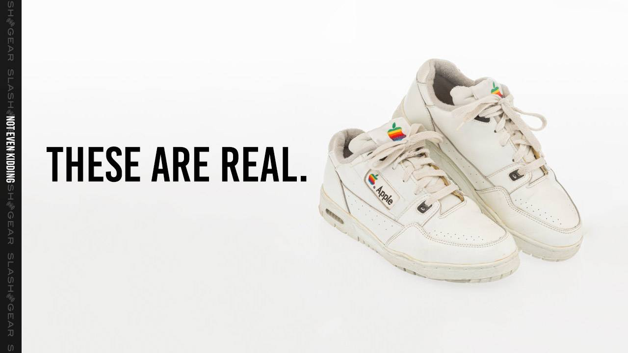 Genuine Apple Sneakers resurface, reminding us of a very real past