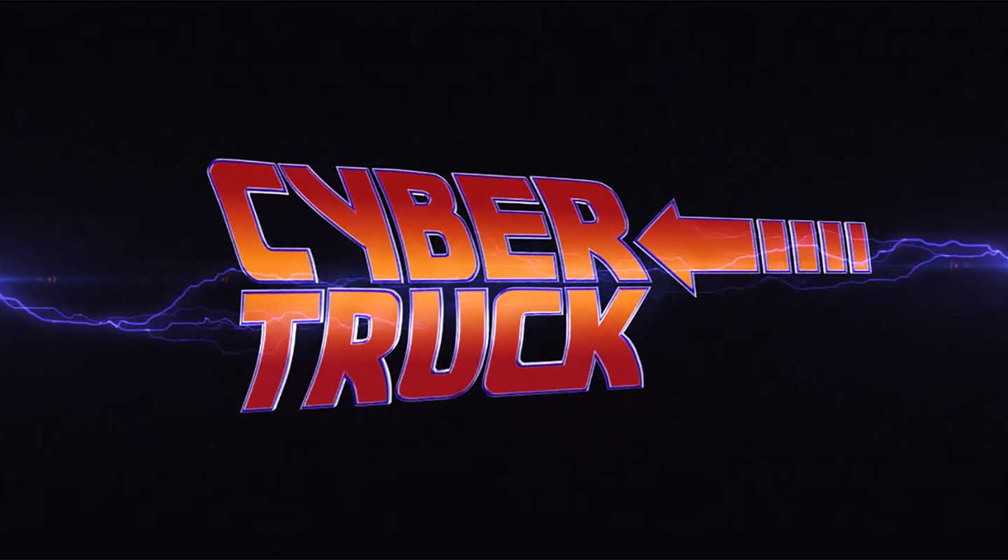 Back to the Future scene recreated with Tesla Cybertruck