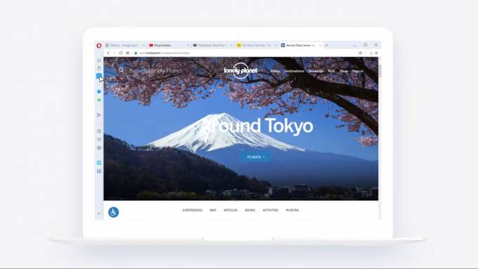Opera R2020 update adds tab workspaces and customizable sidebar
