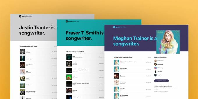 Spotify deploys its new songwriter pages with 'Written by' playlists