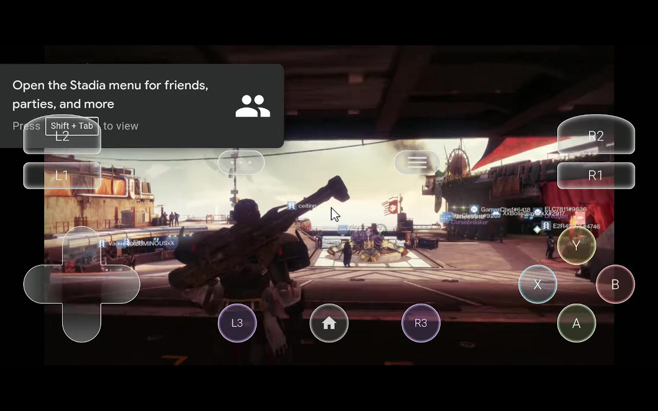 TouchStadia on Android lets you play using touch screen controls