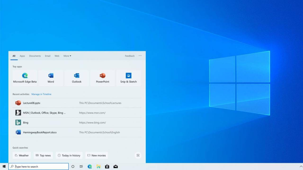 Windows desktop search went down because of Microsoft server outage