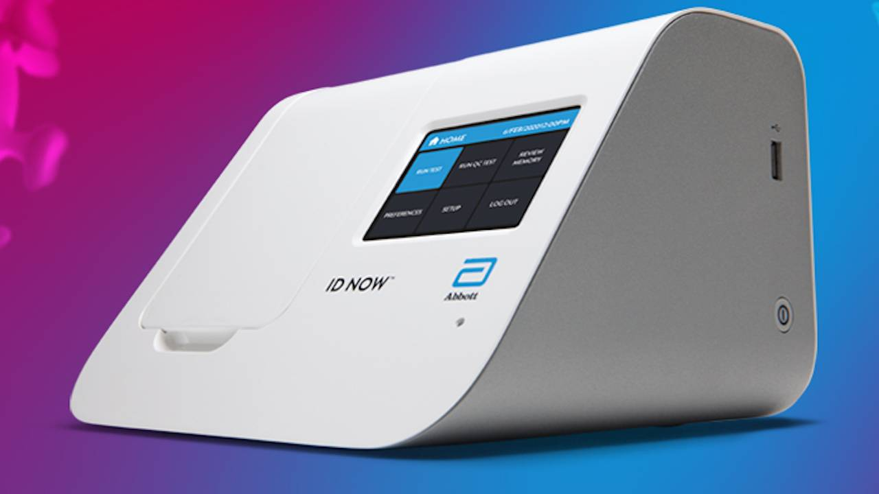 Abbott ID NOW COVID-19 test can give results in five or 13 minutes