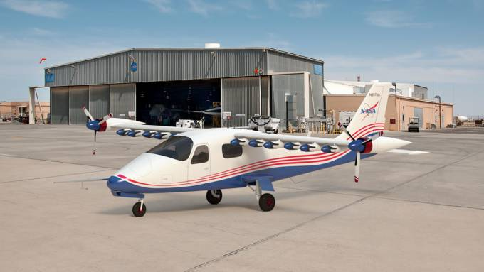 NASA offers renderings of the X-57 Maxwell electric airplane