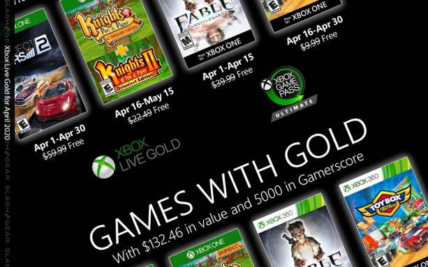 Xbox Games with Gold for April 2020: Project Cars, Fable, more
