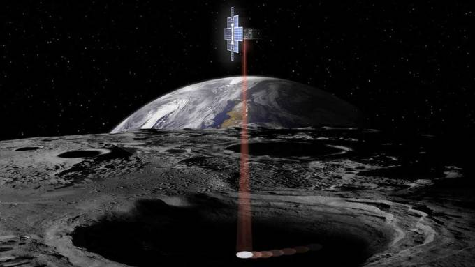 NASA's Lunar Flashlight will search out ice in dark moon craters